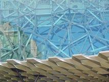 Modelo de un edificio en el cuadrado de FED Fotografía de archivo