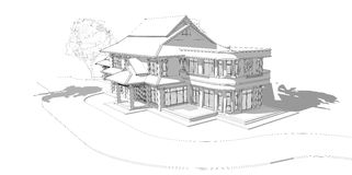 Modelo de una casa libre illustration