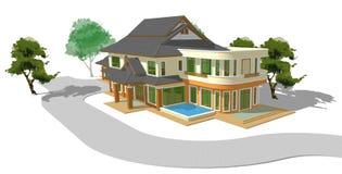 Modelo de una casa stock de ilustración