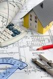 Modelo de una casa. Construcción Foto de archivo