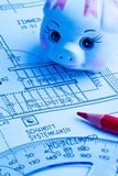Modelo de una casa. construcción Fotografía de archivo libre de regalías