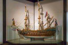 Modelo de una nave holandesa a partir del siglo XVII exhibido en Dejima, Nagasaki fotografía de archivo libre de regalías
