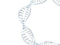 Modelo de vidro do ADN Imagens de Stock