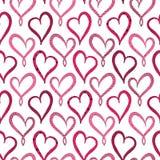 Modelo de Violet Hearts Seamless del día del ` s de la tarjeta del día de San Valentín Fotografía de archivo libre de regalías