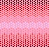 Modelo de zigzag inconsútil de los corazones en fondo rosado Foto de archivo