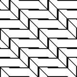 Modelo de zigzag monocromático inconsútil del diseño Imagenes de archivo