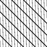 Modelo de zigzag monocromático inconsútil del diseño Fotografía de archivo