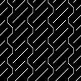 Modelo de zigzag monocromático inconsútil del diseño Fotografía de archivo libre de regalías