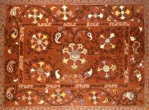 Modelo decorativo árabe del este del bordado imagen de archivo libre de regalías