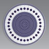 Modelo decorativo de la placa de círculos y de flowers-02 imagen de archivo libre de regalías