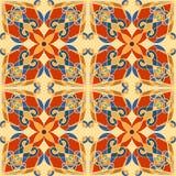 Modelo decorativo de la tela con el ornamento abstracto stock de ilustración