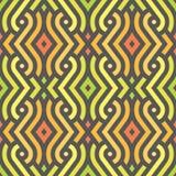 Modelo decorativo de las zonas tropicales tradicionales africanas ilustración del vector