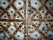 Modelo decorativo del metal de la puerta Imágenes de archivo libres de regalías