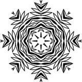 Modelo decorativo - flor en un bl; ack - colores blancos ilustración del vector