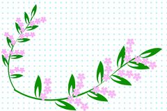 Modelo decorativo floral Foto de archivo libre de regalías