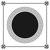 Modelo decorativo ornamental del marco del estilo griego aislado Ornamento griego Paquete antiguo del marco del vector Modelos de Imagen de archivo
