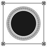Modelo decorativo ornamental del marco del estilo griego Ornamento griego Paquete antiguo del marco del vector Modelos del elemen Imagen de archivo