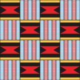 Modelo decorativo para el fondo, la teja y las materias textiles africano foto de archivo