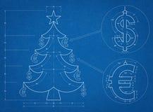 Modelo del árbol de navidad Fotografía de archivo libre de regalías