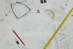 Modelo del Año Nuevo 2015 Foto de archivo libre de regalías