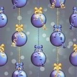 Modelo del Año Nuevo con la bola Papel pintado de la Navidad Fotografía de archivo
