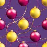 Modelo del Año Nuevo con la bola Papel pintado de la Navidad Fotos de archivo libres de regalías