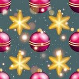 Modelo del Año Nuevo con la bola Papel pintado de la Navidad Foto de archivo libre de regalías