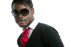 Modelo del africano negro de la mirada de Androginous Foto de archivo
