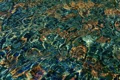 Modelo del agua en la piscina Imagenes de archivo