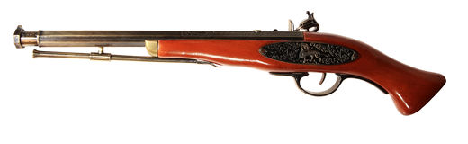 Modelo del arma viejo en el fondo blanco Imagenes de archivo