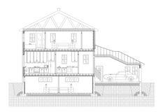 Modelo del arquitecto del plan de la casa - aislado