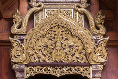 Modelo del arte en el templo Chiang Mai Thailand Wat Ram Poeng Imagenes de archivo