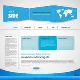 Modelo del azul del diseño de Web Fotos de archivo libres de regalías