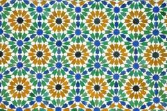 Modelo del azulejo de Morrocan Foto de archivo libre de regalías