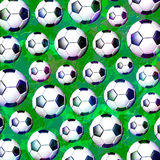 Modelo del balón de fútbol del fútbol Fotos de archivo
