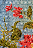 Modelo del batik, Malasia Imágenes de archivo libres de regalías