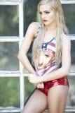 Modelo del Blonde del sueño americano Fotos de archivo libres de regalías