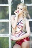 Modelo del Blonde del sueño americano Imagen de archivo
