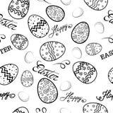 Modelo del bosquejo de Pascua stock de ilustración