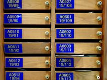 Modelo del buzón de madera foto de archivo libre de regalías