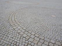 Modelo del círculo hecho del pavimento de adoquín Imágenes de archivo libres de regalías