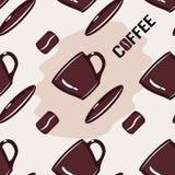 Modelo del café de la taza de la impresión libre illustration