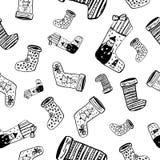 Modelo del calcetín de la Navidad Foto de archivo