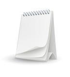 Modelo del calendario con las paginaciones en blanco Foto de archivo libre de regalías