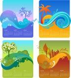 Modelo del calendario del diseño - VECTOR libre illustration
