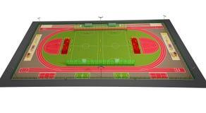 Modelo del campo de deporte 3d aislada en blanco Imágenes de archivo libres de regalías