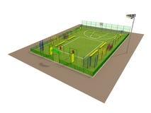 Modelo del campo de deporte 3d aislada en blanco Imagen de archivo