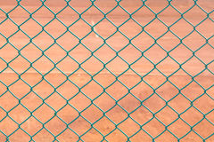 Modelo del campo de tenis de la cerca Foto de archivo libre de regalías