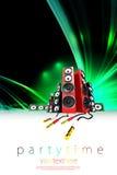 Modelo del cartel del partido de la música Imágenes de archivo libres de regalías