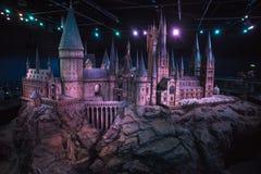 Modelo del castillo de Hogwarts en Warner Bros estudios imagen de archivo libre de regalías